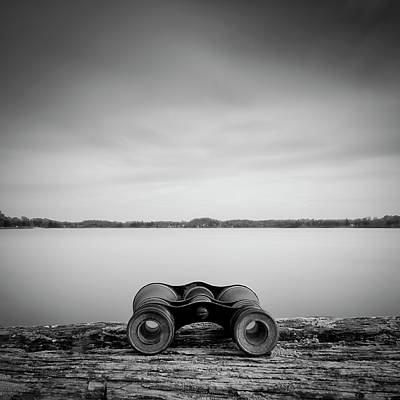 Stockholm Photograph - Binoculars On Plank by Peter Levi
