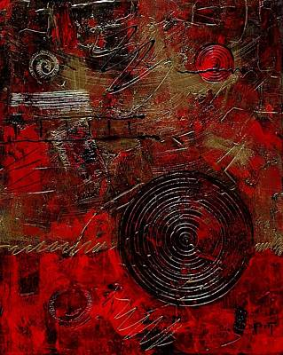 Circle Of Life 001 Print by Donna Frost