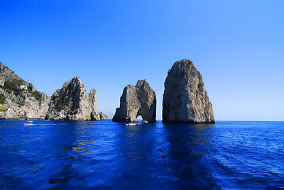 Clear Sky Photograph - Cliffs Of Capri by Antonio Camara