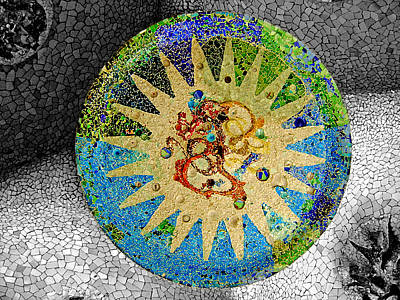 Mosaic Print featuring the photograph Creation by Roberto Alamino