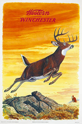 Whitetail Painting - Deer Hunter by J G Woods