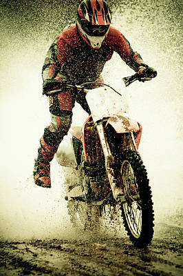 Dirt Bike Rider Print by Thorpeland Photography