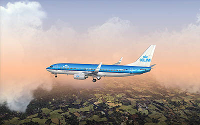 Dirty 737ng 28.8x18 Print by Mike Ray