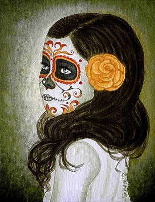 Painted Face Painting - Esmeralda by Al  Molina