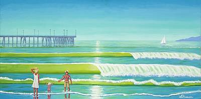 Venice Beach Painting - Family Values Venice Style by Frank Strasser