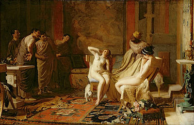 Female Slaves Presented To Octavian Print by Remy Cogghe