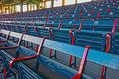 Fenway Bleachers Print by Michael Yeager