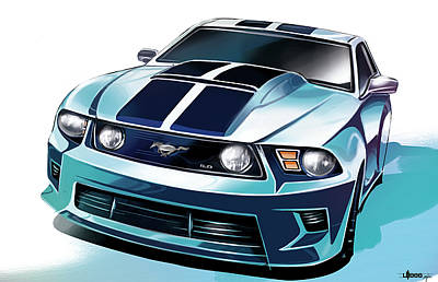 Ford Mustang 5.0 Print by Uli Gonzalez