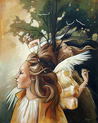 Tree Painting - Gold Leaf Mysticism by Jacque Hudson