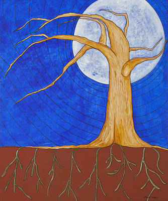 Tree Roots Painting - Grounded by Deborah Langlois