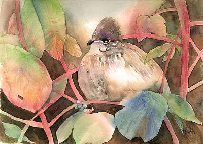 Grouse Painting - Hiding In Plain Sight by Arline Wagner