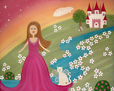 Princess Painting - Home Sweet Home by Samantha Shirley