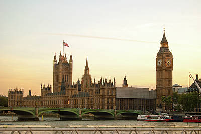 Big Ben Photograph - Houses Of Parliament From The South Bank by Sharon Vos-Arnold