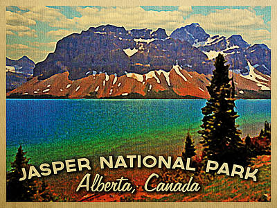 Alberta Digital Art - Jasper National Park Canada by Flo Karp