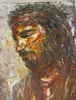 Jesus Crown Of Thorns Original by Thu Sophannarith