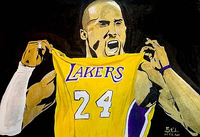 Lakers Painting - Kobe Bryant by Estelle BRETON-MAYA