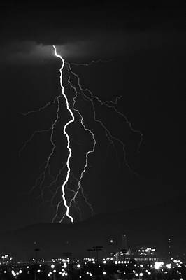 Lightning Photograph - Lightning Over Tucson by Bill Eggert