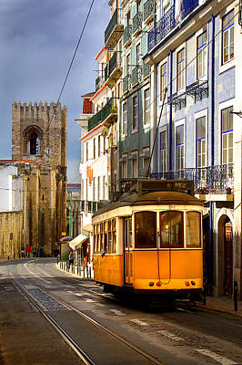 Ancient Architecture Print featuring the photograph Lisbon Tram by Carlos Caetano