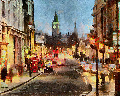 Great Britain Digital Art - London Scene by Anthony Caruso