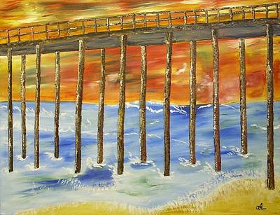 Seascape Painting - Low Tide by James Bryron Love