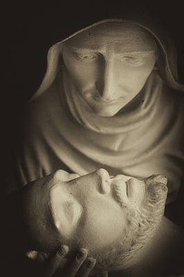 Mary And Her Son Print by Dawna  Moore Photography