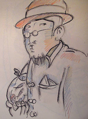 Matisse En Route To His Studio With Goldfish Print by Charlie Spear