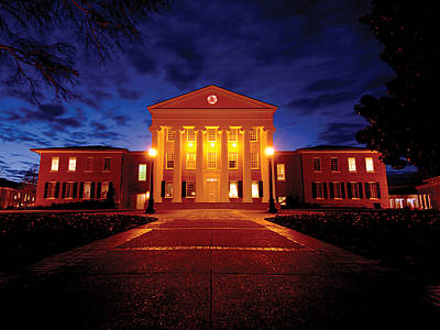 Mississippi Lyceum At The University Of Mississippi Print by University of Mississippi - Imaging Services