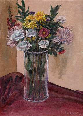 Gladiolas Painting - Mother's Day Bouquet by Elizabeth Lane