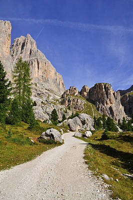 Dolomite Photograph - Mountain Road by Nicolas Emery