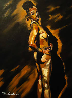 Alluring Painting - Nude In Profile by Jacq Lovelace