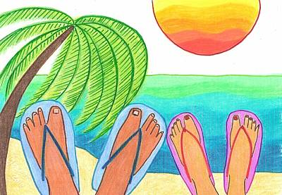 Sun Drawing - Our Dream Vacation by Geree McDermott