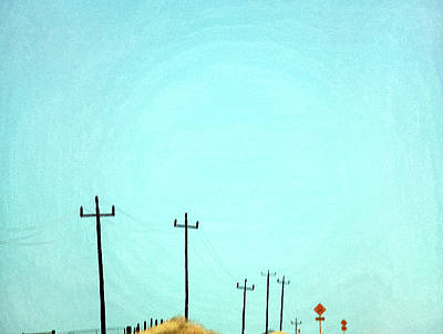 Telephone Poles Photograph - Painting Of Telegraph Poles by Virginia Star