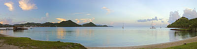 Best Sailing Photograph - Panoramic1- St Lucia by Chester Williams