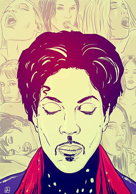 Celebrities Drawing - Prince by Giuseppe Cristiano