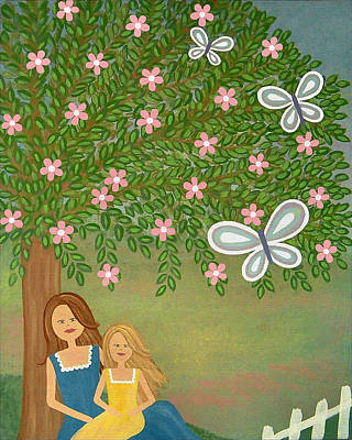 Girls Painting - Quiet Moments by Samantha Shirley