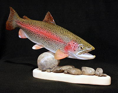 Rainbow Trout On The Rocks Original by Eric Knowlton