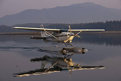 Float Plane Photograph - Reflections Of A Float Plane by Darcy Michaelchuk