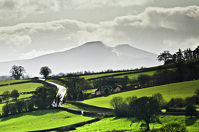 Rural Photograph - Road To Brecon Beacons by Ginny Battson