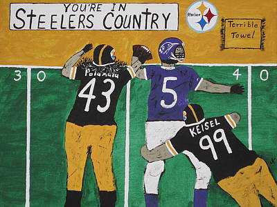 Pittsburgh Steelers Painting - Steelers Country by Jeffrey Koss