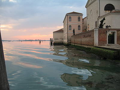Sunrise On Isola Di San Clemente Venice Print by Harry Mason
