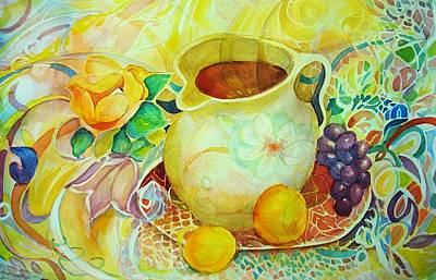 Wet On Wet Painting - Sweet Tea by Anne Dentler