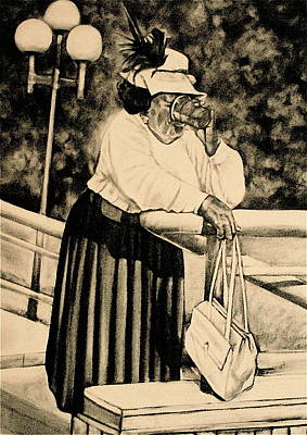 Religious Drawing - The Church Lady by Curtis James
