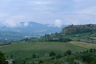 Orvieto Photograph - The Medieval Hill Town Of Orvieto Rises by Taylor S. Kennedy