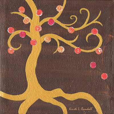 Recycled Painting - Tree Of Life - Left by Kristi L Randall