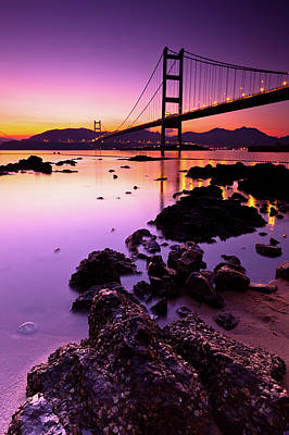 Built Structure Photograph - Tsing Ma Bridge by Kenny Chow Kmdd