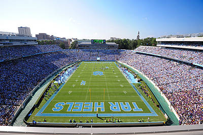 Tar Photograph - Unc Kenan Stadium Endzone View by Replay Photos