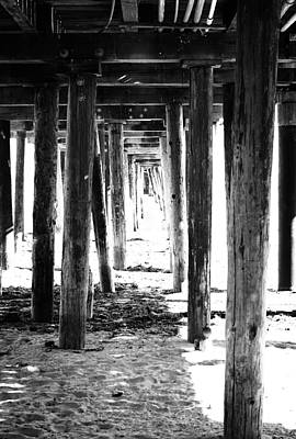 Boardwalk Mixed Media - Under The Pier by Linda Woods