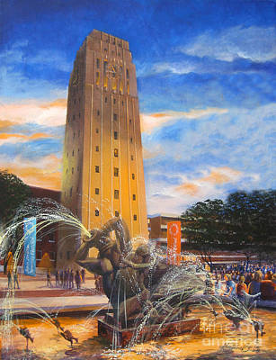 University Of Michigan Painting - University Of Michigan Bell Tower by Katherine Larson