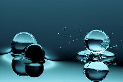 Water Photograph - Water Balls by Alex Koloskov Photography