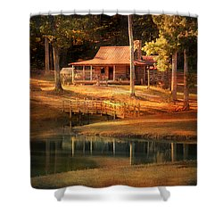 A Place To Dream Shower Curtain by Jai Johnson
